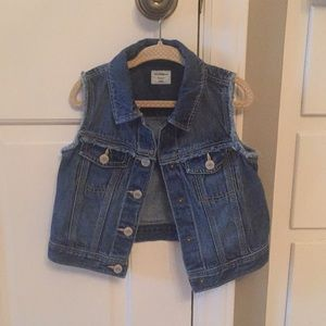 Baby Gap denim vest, size 4 years, like new